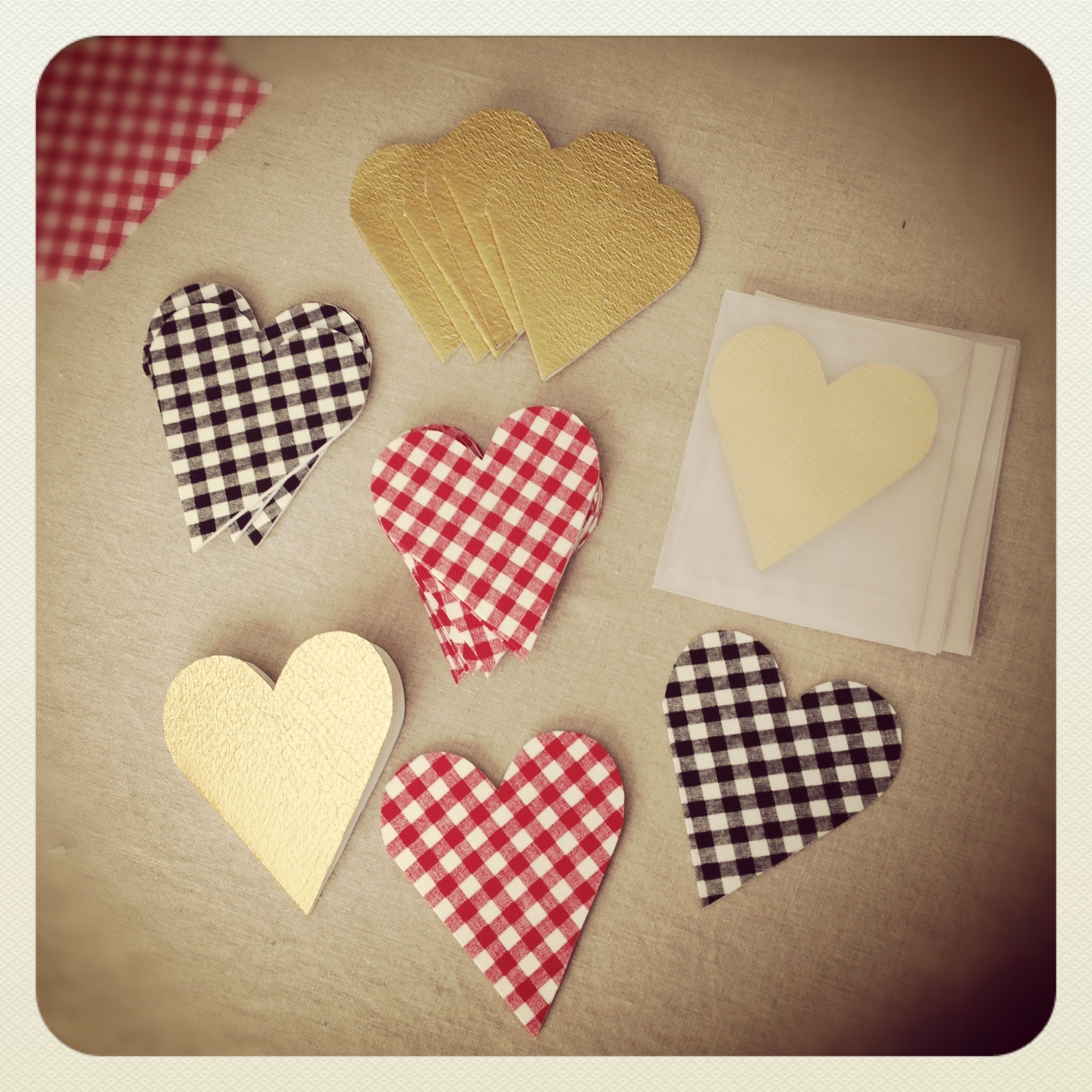 Fabric + paper valentines for the shop!