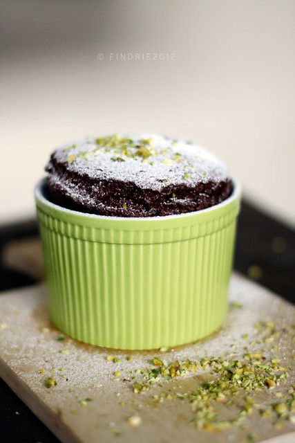 Chocolate Souffle with  Pistachio