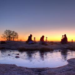 Waiting on Godot (Arabia Mountain sunrise)