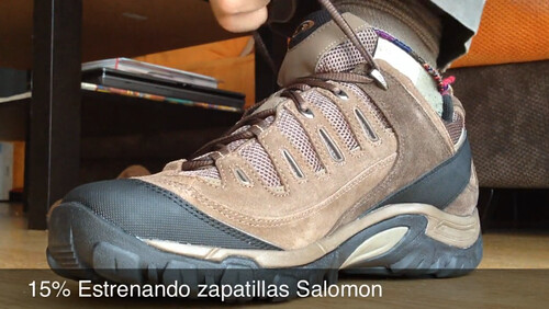 15% Estrenando zapatillas Salomon