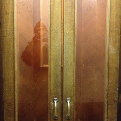 Ghost in the elevator... #reflections