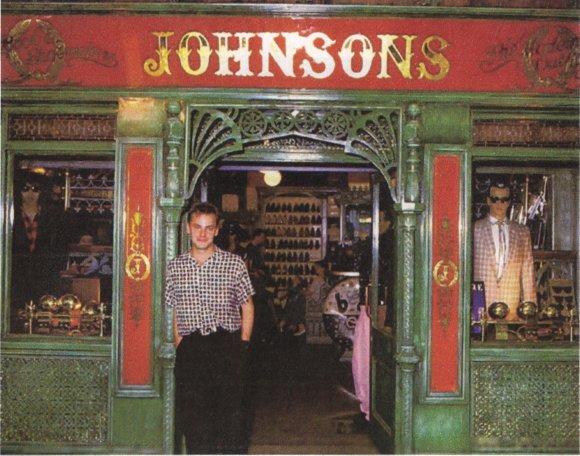 "Johnny ""Mono"" Graham, Johnson's Kensington Market, 80s."
