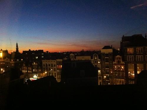 Sunset in Amsterdam (Jan. 16, 2012)