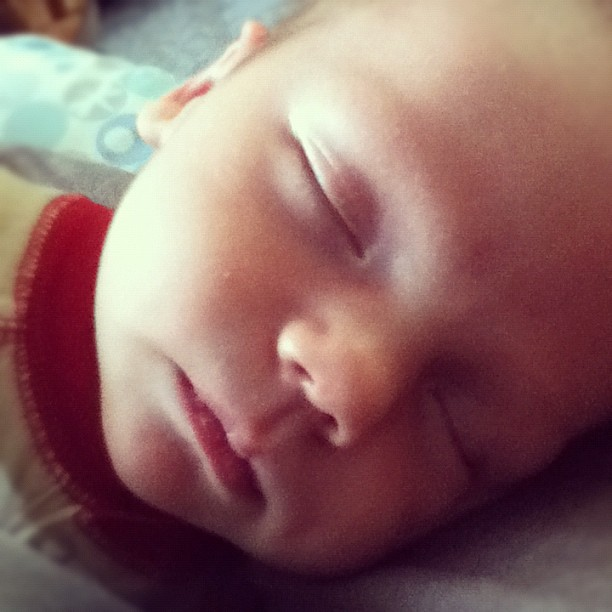 Total sweetness napping in my arms...