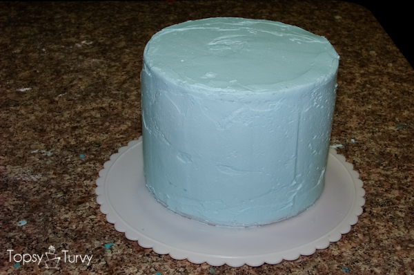 Blue Chevron Ombre birthday cake Ashlee Marie real fun with real