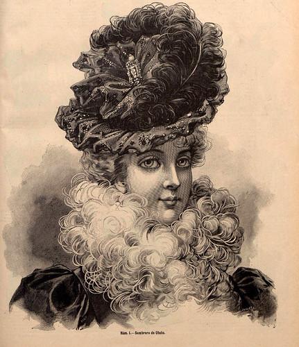 011-Sombrero de Otoño-La Última moda-revista ilustrada hispano-americana, del 2 de octubre de 1898-copyright MemoriadeMadrid
