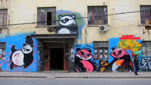 moganshan road shanghai 2012 - panda graffiti