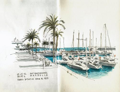 Marbella, port