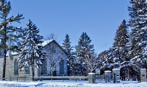 county winter auld kirkalmonteeastern ontariolanark