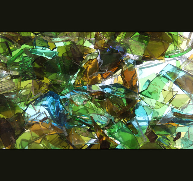 Recycled glass art flickr photo sharing for Recycled glass art