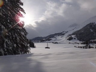 Stunning view arriving to Davos #WEF
