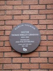 Photo of Thomas Wrigley Grimshaw brown plaque
