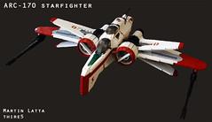 UCS Star Wars ARC-170 starfighter (with instruction)