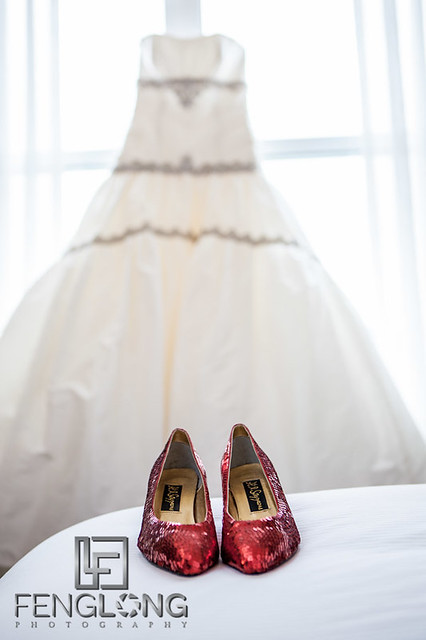 Wedding Dress & Shoes | Elizabeth & Greg's Wedding | Hilton Marietta Hotel & Transfiguration Catholic Church | Marietta Atlanta Wedding Photographer