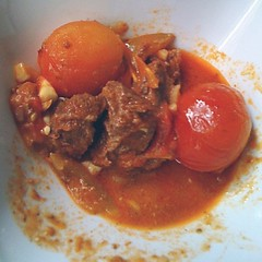 Beef and tomato. Husband made this. Yum.