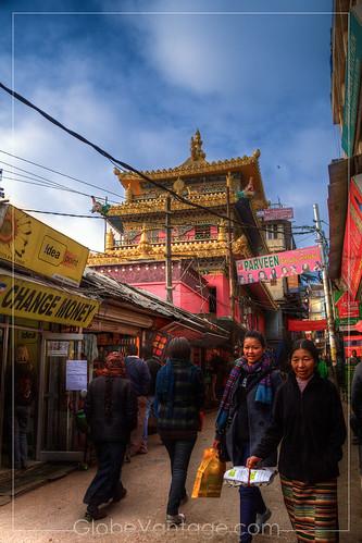 Mcleodganj stupa street HDR