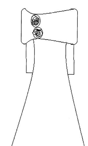 Disegno di massima del vestito della sposa