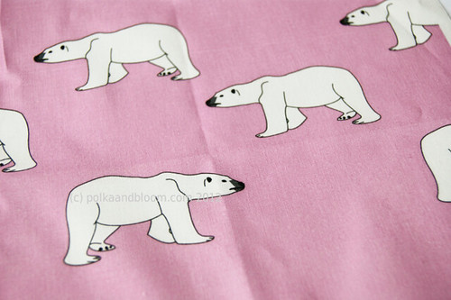 Polar bears on pink