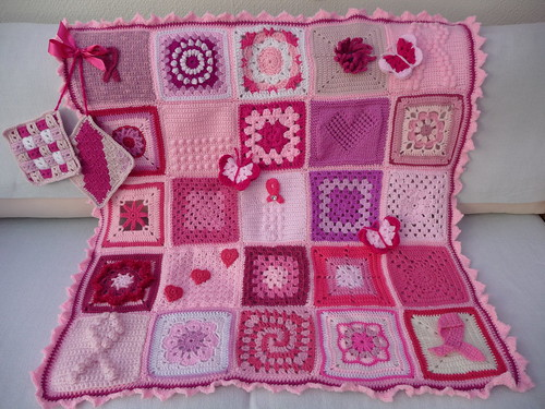'Think Pink' Breast Awareness Blanket.