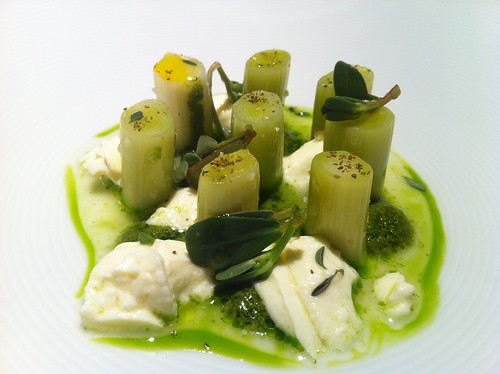 Leeks and green sauce