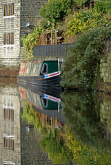 Reflections in the Rochdale Canal, Hebden Bridge by Tim Green aka atoach