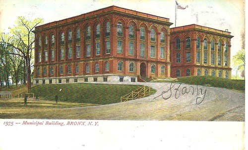 NYC Postcard - Municipal Building, Bronx (Front)