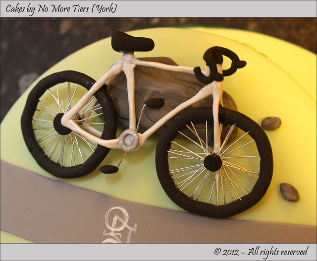 Road bike cake topper - detail Flickr - Photo Sharing!