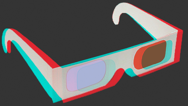 3D glasses in 3D