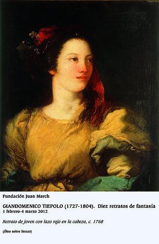 Retrato de joven con lazo rojo en la cabeza c. 1768