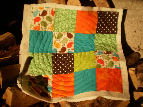 circular quilting in the log pile