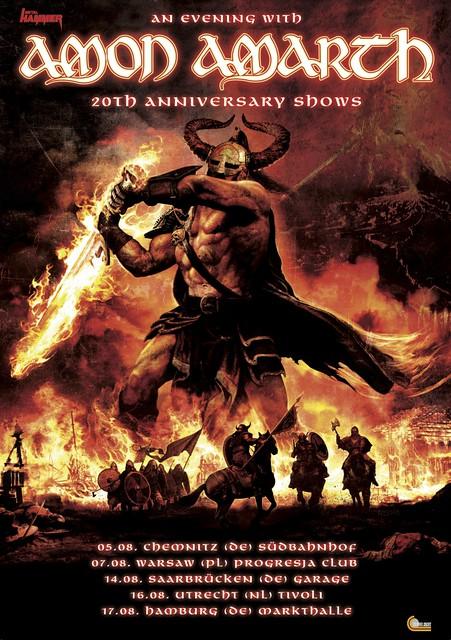 Amon Amarth 20th Anniversary Shows