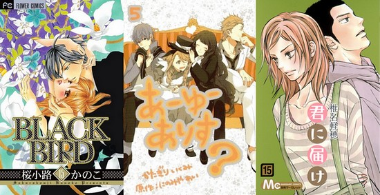 Ranking de mangá Shoujo e Josei