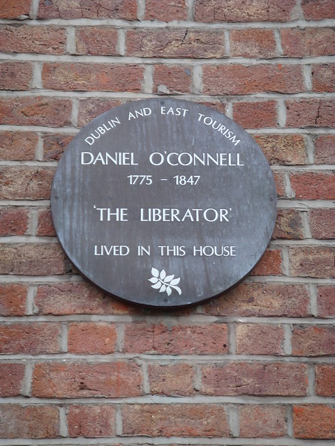 Photo of Daniel O'Connell brown plaque