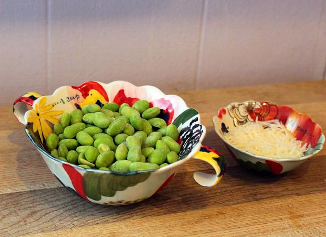 Soya Beans and Grana Padano