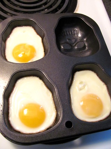Skull Muffin Tin Eggs