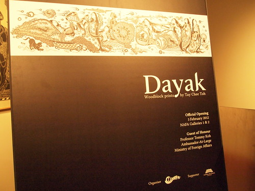 Dayak - Woodblock printing by Tay Chee Toh