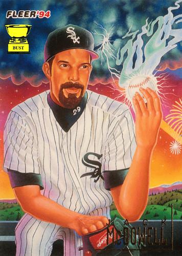 Baseball Card Bust Jack Mcdowell 1994 Fleer Pro Vision