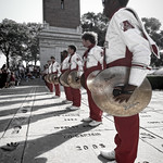 Cymbals Of The Million Dollar Band At The Walk Of Fame University Of Alabama