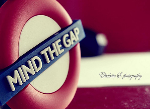 mind the gap key ring by KeYmA78