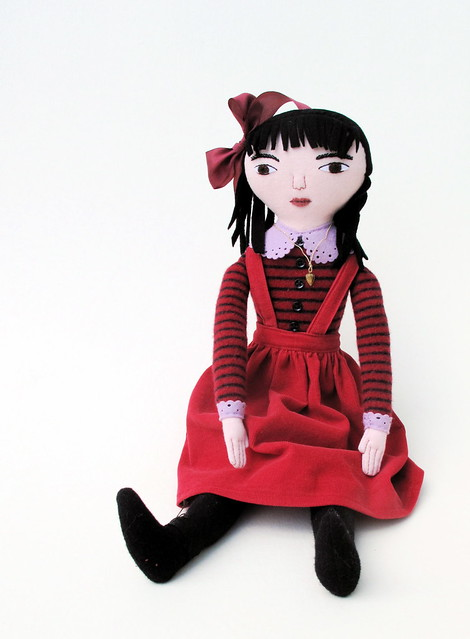 girl in red doll