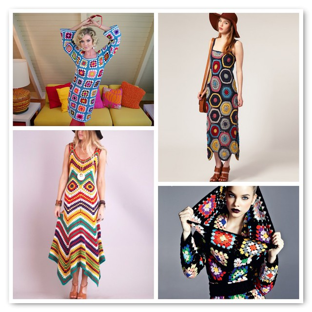 Granny crochet dresses