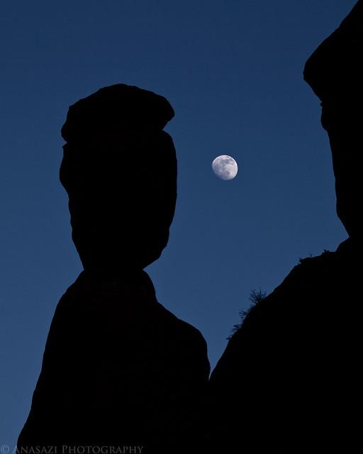 Balance Rock & Moon
