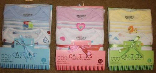 Carter's Watch the Wear Infant Bodysuits and Sleep 'n Play Garments Recalled