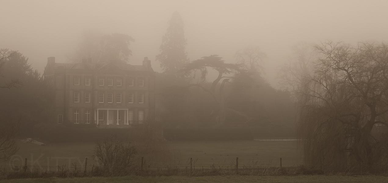 Ardington House in Mist
