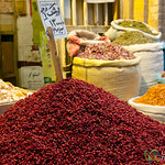 Pile of Dried Barberries - Shiraz, Iran