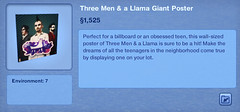 Three Men & a Llama Giant Poster