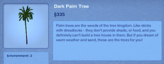 Dark Palm Tree