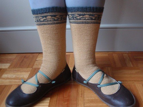 Fair Isle socks and shoes 2