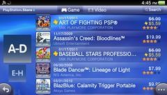 PS Store Vita