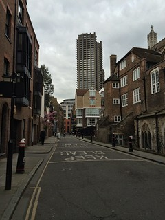 Cloth Fair looking towards The Barbican